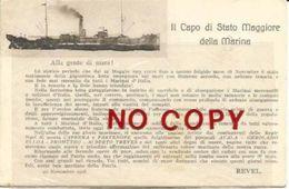 Marina 20.11.1918 Prima Guerra Mondiale, Proclama Del Capo Di Stato Maggiore Revel. Genova 2.2.1919. - Guerra