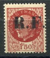 RC 6772 FRANCE LIBÉRATION N°1 CHALONS SUR MARNE R.F. SUR 1f50 PETAIN COTE 72€ NEUF ** - Libération