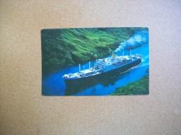 Panama - Carte Postale Du Canal: S.S.Ruahine - Bateau - Handel