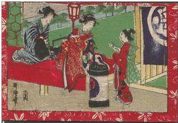 JAPAN GEISHE POSTCARD Circulated 1910 - Japan