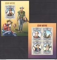 U914 2013 BURUNDI FAMOUS PEOPLE JOHN WAYNE 1KB+1BL MNH - Persönlichkeiten