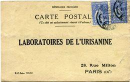 PORTUGAL CARTE POSTALE BON POUR UN FLACON ECHANTILLON D'URISANINE DEPART PARDILHO ? ? 25 POUR LA FRANCE - 1910-... République