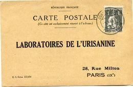 PORTUGAL CARTE POSTALE BON POUR UN FLACON ECHANTILLON D'URISANINE DEPART POVOA DE VARZIM 1 MAR 26 POUR LA FRANCE - 1910 - ... Repubblica