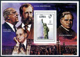 GAMBIA Gambie 1986 MNH** - Monuments - Célébrités - Michel Nr. Bloc 26 - Gambie (1965-...)