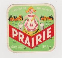 Image Cartonnée Fromage Prairie Fabriqué En Bourgogne N°26 Maconnais - Bourgogne - Vieux Papiers