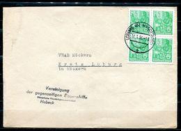 "DDR,GDR 1955 Firmen Bedarfsbrief/Cover Mit Mi.Nr.406 MeFund Tagesstempel ""Loburg,Bz.Magdeburg"" 1 Beleg - Covers"