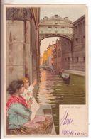 186-tematica Illustratori:Firmata Tafuri-Donnine-Venezia-Ponte Dei Sospiri-v.1902 X Padova - Illustratori & Fotografie