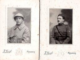 Guerre 14/18 2 Soldats De L'armée Française  Photographe  Cerf à ARDRES - Guerre, Militaire