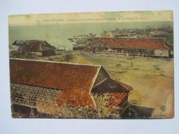 MADAGASCAR   -  DIEGO-SUAREZ   -  CYCLONE DU 12 NOVEMBRE 1912 - QUARTIER DE L'ARTILLERIE   APRES ...  ANIME  TTB - Madagascar