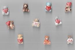 Fèves - Série Complète De 10 Fèves - 10 Oursons Avec Leur Coeur - - Animals