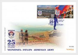 Armenië / Armenia - Postfris / MNH - FDC 25 Jaar Armeens Leger 2017 - Armenië
