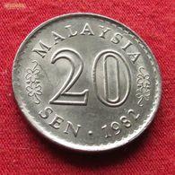Malaysia 20 Sen 1982 KM# 4  Malasia Malaisie Malaysie - Malaysie