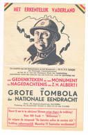 Reklame Grote Tombola Der Nationale Eendracht - Billets De Loterie