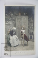 Old Real Photo Postcard - Grand Mother And Granddaughter - Stebbing Photography - Niños