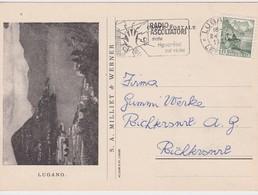 SUISSE 1949 CARTE ILLUSTREE DE LUGANO - Suisse