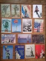 Lot De 15 Cartes Postales STATUE DE LA LIBERTE / Miss Liberty - United States