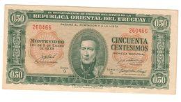 Uruguay 50 Centavos 02/01/1939 AUNC - Uruguay