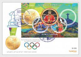 Armenië / Armenia - Postfris / MNH - FDC Sheet Olympisch Kampioen Rio 2017 - Armenië