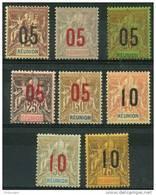 Reunion (1912) N 72 à 79 * (charniere) - Réunion (1852-1975)