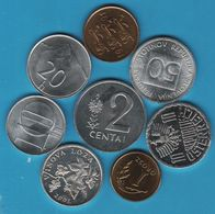 LOT COINS 8 MONNAIES ALL UNC - Monedas & Billetes