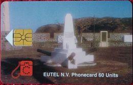 Antilles (Neth) - St. Eustatius - Eutel, EUS-E-06, Orange Fort, 2000ex, 1996, Used - Antilles (Netherlands)