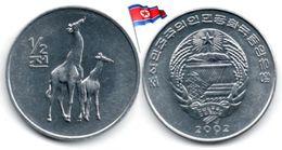 Corée Du Nord - ½  Chon 2002 (UNC - Girafes) - Corée Du Nord