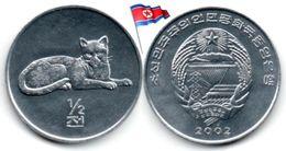 Corée Du Nord - ½  Chon 2002 (UNC - Léopard) - Corée Du Nord