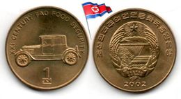 Corée Du Nord - 1 Chon 2002 (UNC - Antique Car) - Corée Du Nord