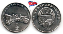 Corée Du Nord - 2 Chon 2002 (UNC - Antique Touring Car) - Corea Del Norte