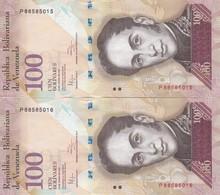 PAREJA CORRELATIVA DE VENEZUELA DE 100 BOLIVARES 31 DE ENERO DEL 2012 SIN CIRCULAR-UNCIRCULATED  (BANK NOTE) PAJARO - Venezuela