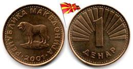 Macedoine - 1 Denar 2001 (UNC) - Macedonia