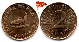 Macedoine - 2 Denari 2001 (UNC) - Macédoine