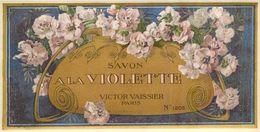 Etiquette Parfum Savon à La Violette Victor Vaissier à Paris N° 1205 En Superbe.Etat - Labels