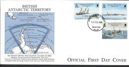 BAT.Scott # 285-87 FDC. Imperial Trans AntarcticExpedition 2000 - FDC