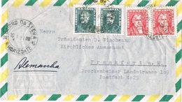 27237. Carta Aerea  BAIRRO Da SERRA (Belo Horizonte) Barsil 1963 A Germany - Brasil