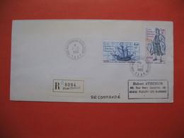 TAAF Lettre Port-Aux-Français - Kerguelen  En Recommandé Pour La France N° 84 Et 85  Du 1/2/1980 - Französische Süd- Und Antarktisgebiete (TAAF)