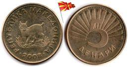 Macedoine - 5 Denari 2008 (UNC - Toned) - Macédoine