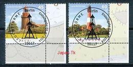GERMANY Mi.Nr.  3089-3090 Leuchttürme -  ESST -BERLIN -Eckrand Unten Rechts - Used - Gebraucht