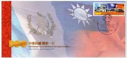 Sobre De Primer Dia De Guatemala Año 2011, Centenario De La Republica De China - Guatemala