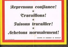PROPAGANDA  Reprenons Confiance Chambre De Commerce De Bruxelles - Publicité