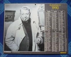CALENDRIER LA POSTE 1990 - Film Mélodie En Sous-sol - J- GABIN Et Le Vieux Fusil - R.SCHNEIDER - PH. NOIRET - Dpt 66 - Big : 1981-90