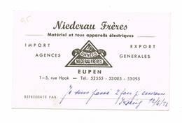 EUPEN  Niederau Freres 1955 - Reclame