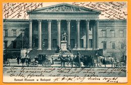 Budapest - Nemzeti Museum - Calèches - Animée - KOCH WILLY - 1906 - Oblit. BUDAPEST à WARENDORF - Hongarije