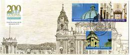 Sobre De Primer Dia De Guatemala Año 2015, Catedral Metropolitana De Santiago De Guatemala - Guatemala