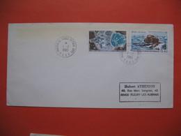 TAAF Lettre  Martin De Vivies - St Paul -AMS  Pour La France N° PA56 Et 57  1/2/1980 - Briefe U. Dokumente