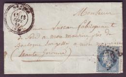 HAUTES PYRENEES - LAC - Tàd T24 HECHES + GC 1776 Sur N° 29 Pour Boulogne Sur Gesse (30) - 1849-1876: Classic Period