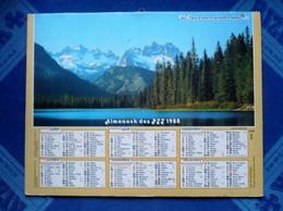 CALENDRIER - Almanach Des P.T.T. 1988 - LAC DE MONTAGNE Et MT HOOD OREGON  - Dpt 66 - Big : 1981-90