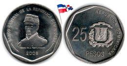 République Dominicaine - 25 Pesos 2008 (UNC) - Dominicana