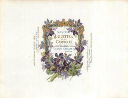 Grande Etiquette Parfum Savon Violettes Du Congo Victor Vaissier Paris Superbe.Etat - Labels