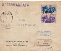 Regno Storia Postale - Alleanza Italo-Tedesca L. 1.25 E Cent.50, Da Milano Per Genova 19.2.41 - 1900-44 Vittorio Emanuele III